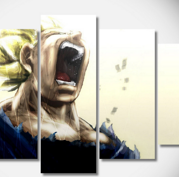 Epic Vegeta Super Saiyan 5 Piece Canvas Set