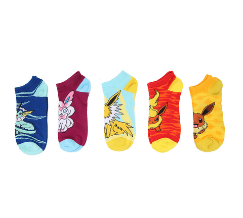 Eeveelution Ankle Socks Set of 5