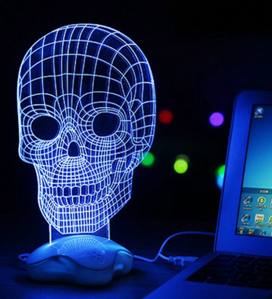 Epic LED Skull Lamp
