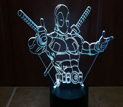 Epic DeadPool LED Lamp