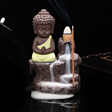 The Little Monk Incense Burner + 45 Incense Cones!