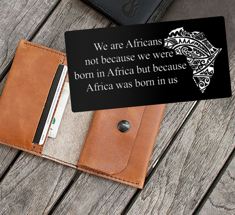 Metallic Wallet Laser Engrave Cards - African Love