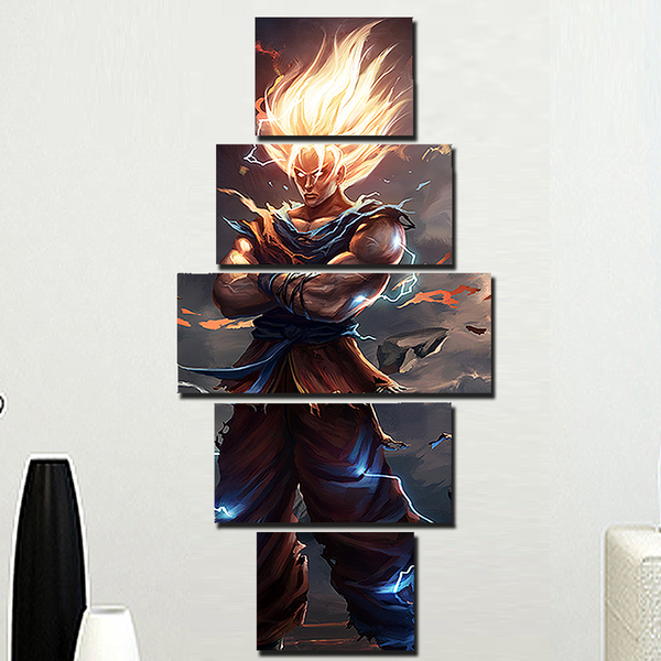 Epic Digital Goku Super Saiyan 5 Piece Canvas Set!