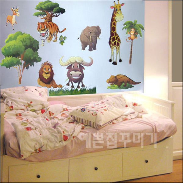 Nursery Day Care Decal Wall Stickers. Cute Animals.