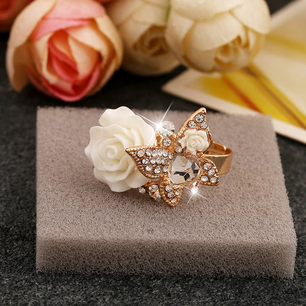 Beautiful Flower Rings