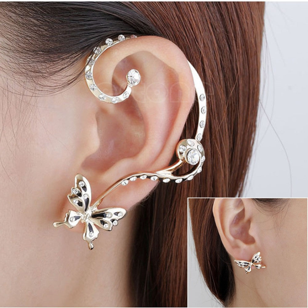 Cute Butterfly Ear Cuff Earring
