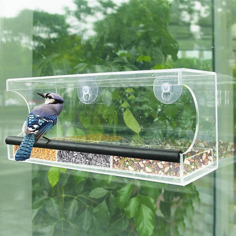 Crystal Window Bird Feeder - DogCore.com