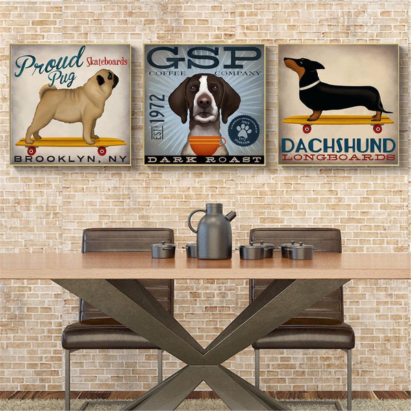 Dog Canvas Paintings - DogCore.com