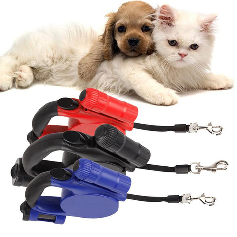 Leash with Flashlight and Garbage Bag - DogCore.com