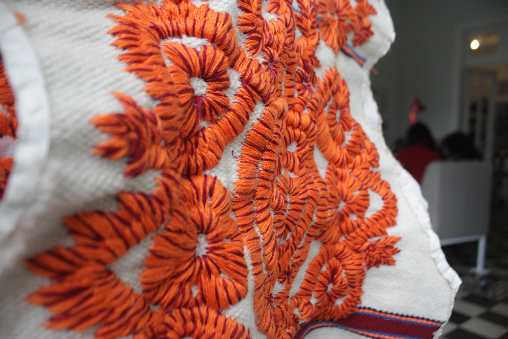 Peru handmade embroidered textile