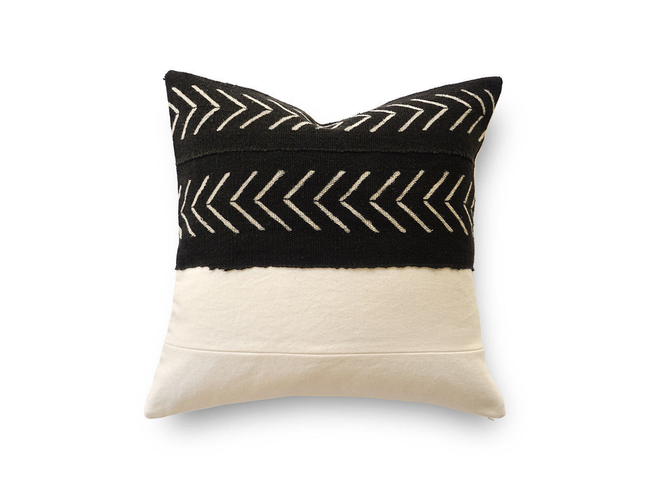 BLACK MUDCLOTH CUSHION COVER (20x20)
