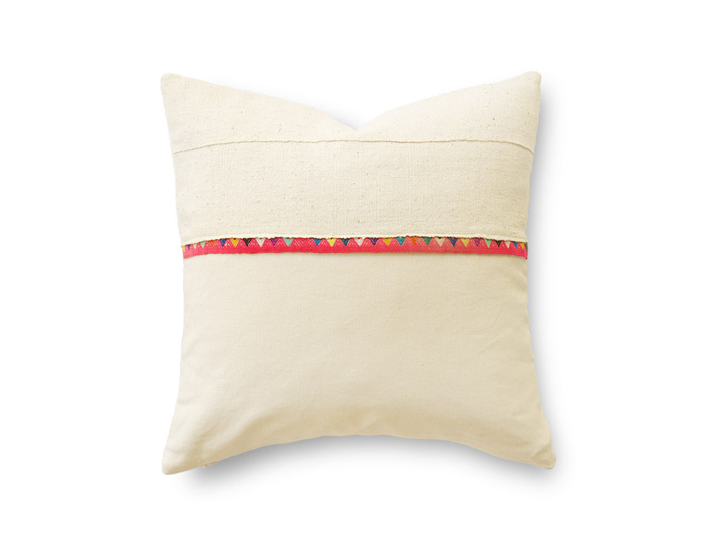 BENI WHITE MUDCLOTH CUSHION (20x20)