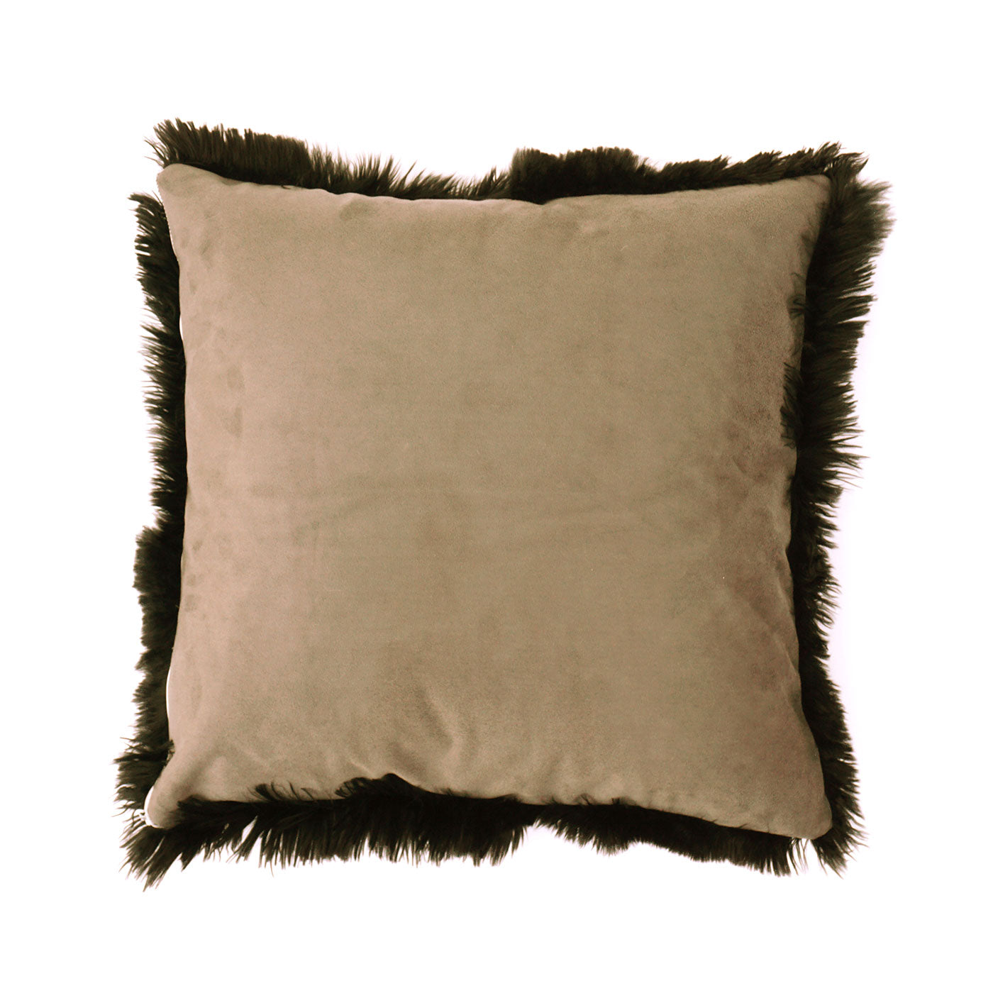 BLACK LUXURY ALPACA FUR CUSHION