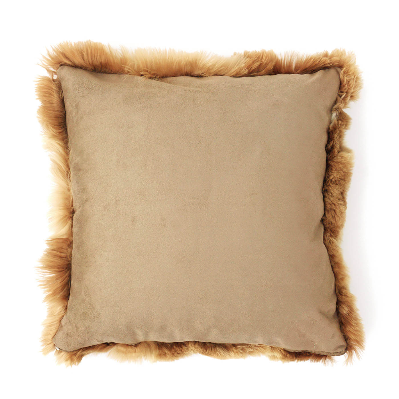 BROWN LUXURY ALPACA FUR CUSHION
