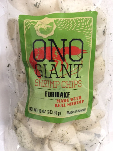 Two Ono Giant Shrimp Chips - Furikake 10 oz bags (Shipping Included)