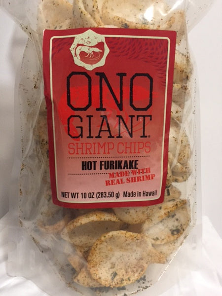 Two Ono Giant Shrimp Chips - Hot Furikake 10 oz bags (Shipping Included)