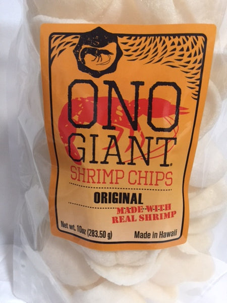 Two Ono Giant Shrimp Chips - Original 10 oz bags (Shipping Included)
