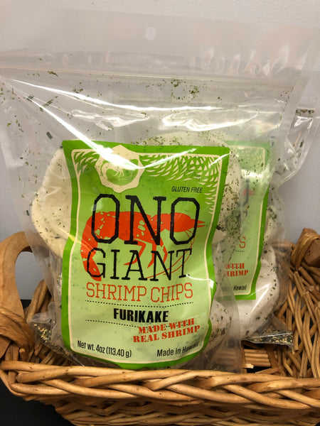 A. Two Ono Giant Furikake Shrimp Chips - 4 oz bags (Shipping Included)