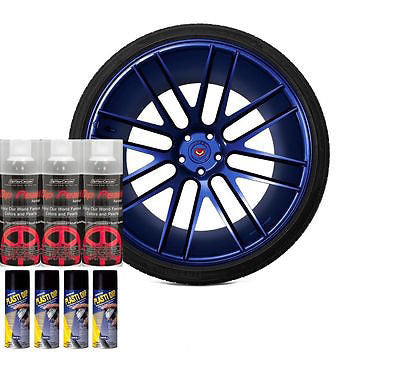 DYC Performix Plasti Dip Pearl Wheel Kit 3 Deep Blue Sea 4 Matte Black Cans