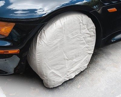 "4 Canvas Wheel Tire Covers Cars, Camper, Trailer, Boat 21"", Painting, Plasti Dip"