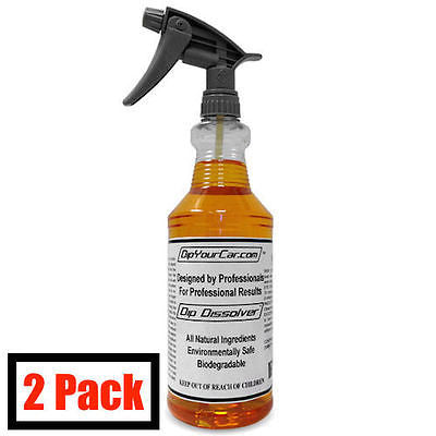 2 Plasti Dip Dissolver by DYC DipYourCar 32oz Spray Bottle Remover For Thin Dip