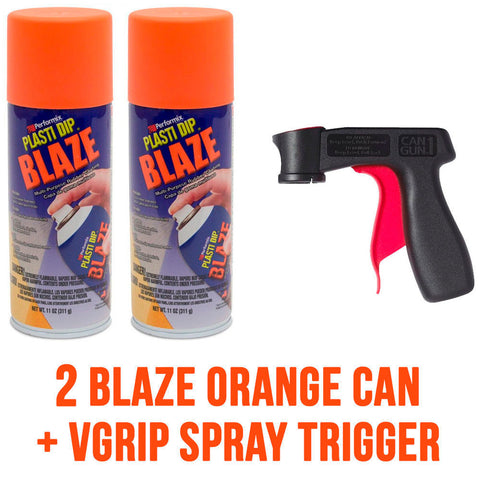 Performix Plasti Dip 2 Blaze Orange Aerosol Spray Cans with VGrip Spray Trigger