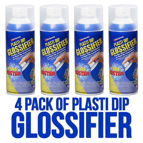 4 Pack Performix Plasti Dip Gloss Glossifier Spray Aerosol Cans 11oz