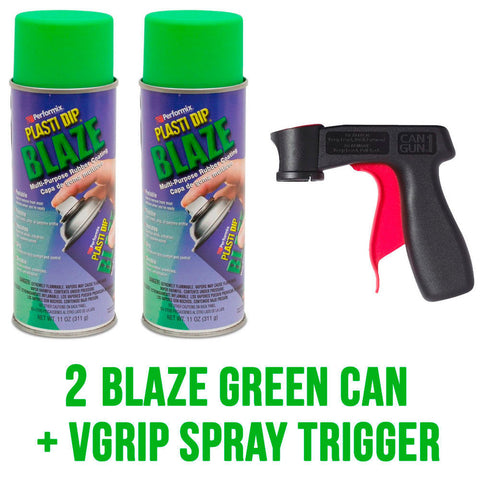 Performix Plasti Dip 2 Blaze Green Aerosol Spray Cans with VGrip Spray Trigger
