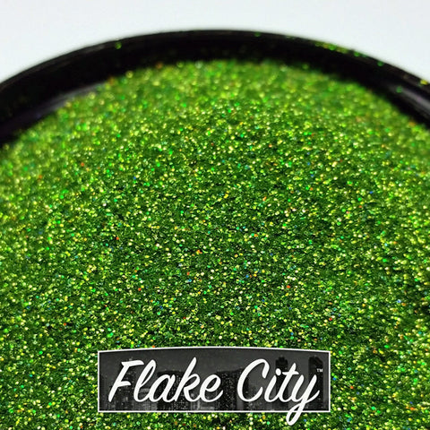 Apple Green Holographic Flakes 008