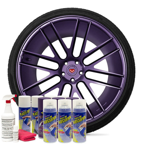 GLOSS PLUM CRAZY WHEEL KIT