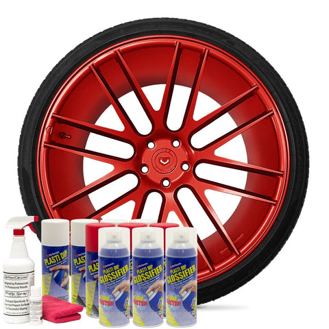 GLOSS RED WHEEL KIT