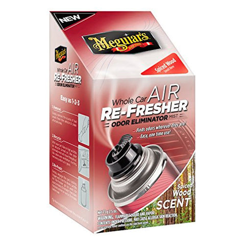 Meguiar's G19702 Whole Car Air Refresher Odor Eliminator (spiced Wood Scent) SIX PACK