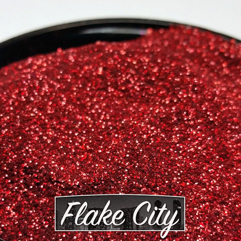 Red Holographic Flakes 008