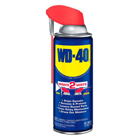 WD-40 490040 Spray. Multi-Use Lubricant Smart Straw Spray. 11 oz.