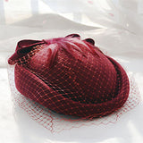 Ladies Vintage Wedding Bride Beret-orderinbox