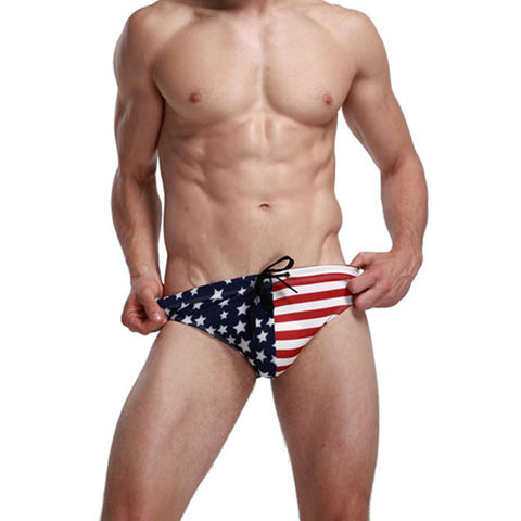 American Flag Men's Swimwear-orderinbox
