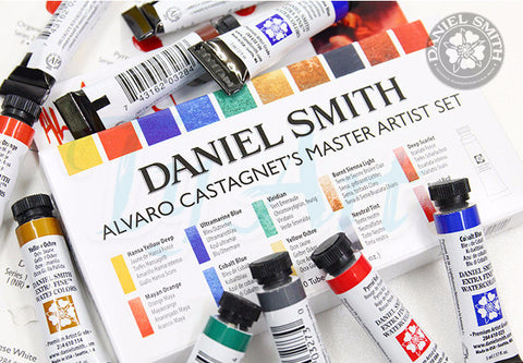 Daniel Smith Alvaro Master Watercolor Pigment 10 Color-orderinbox