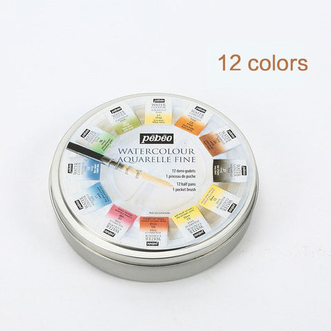 Pebeo 12/24colors Solid Water Color Paint Artist Watercolor Pigment-orderinbox