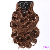Fiber Synthetic Full Head Clip in Curly Hair Extension-orderinbox