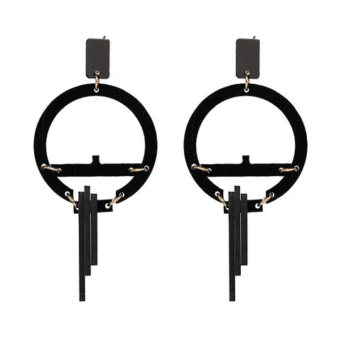 DropBlack Dangle Earrings-orderinbox