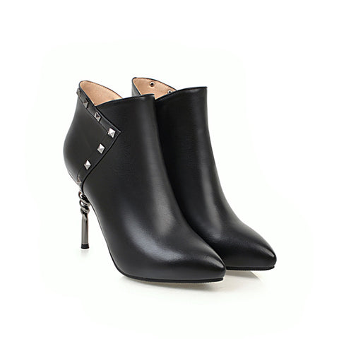 Amy Stud Ankle Boots-orderinbox