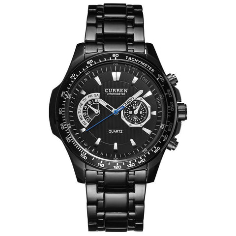 Black Vogue Business Military Watch-orderinbox