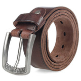 Genuine Leather Alloy Pin Buckle Belt-orderinbox