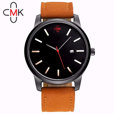 Military Leather Business Quartz Watch-orderinbox
