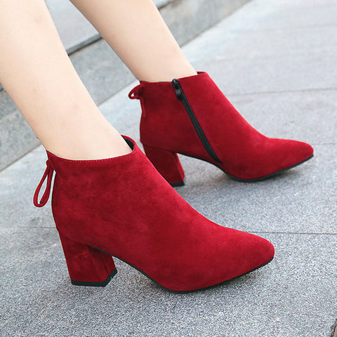 MW Velvet Winter Party Booties-orderinbox