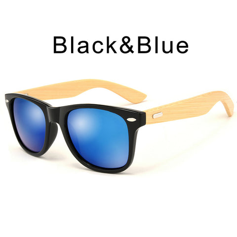 Retro Wood Bamboo Sunglasses-orderinbox