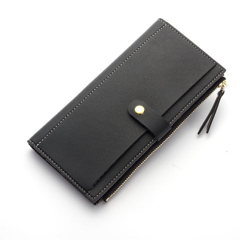 Long Solid Luxury Wallets-orderinbox