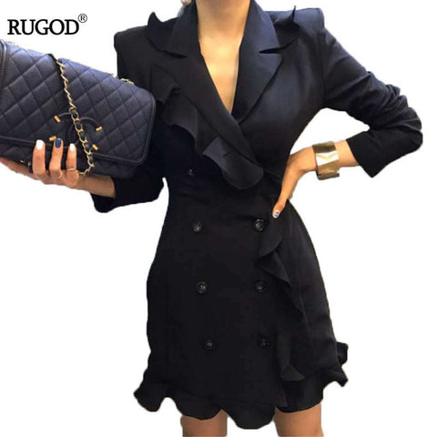 Long Sleeve Ruffle Women Summer Autumn Jacket-orderinbox