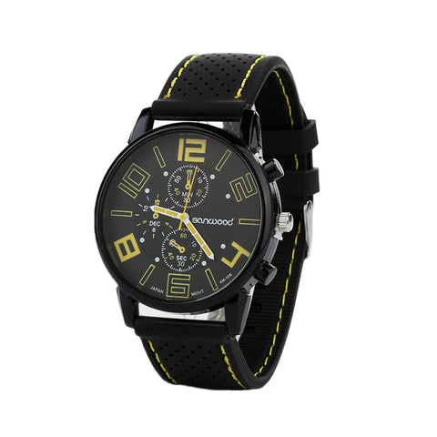 Casual Sports Stainless Steel Silicone Watch-orderinbox