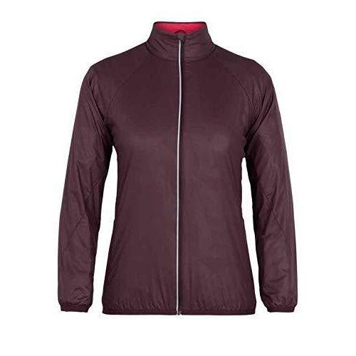 Icebreaker Rush Windbreaker Jacket for Trail Running & Hiking, Lightweight Merino Wool Liner - Velvet/Prism / Large